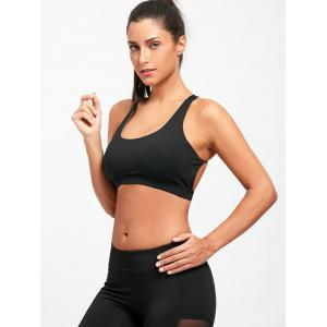 Padded Backless Strappy Yoga Bra -