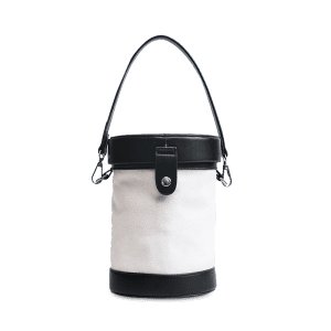 Color Block Cylinder Shaped Crossbody Bag -