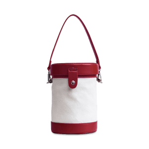 Color Block Cylinder Shaped Crossbody Bag - RED