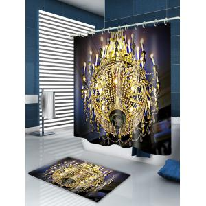Chandeliers Print Waterproof Bathroom Shower Curtain - GOLDEN W71 INCH * L71 INCH