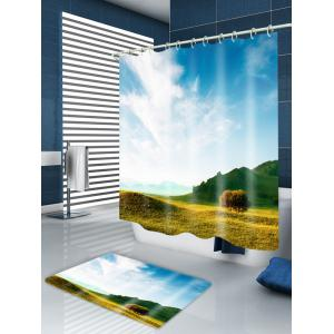 Grasslands Print Waterproof Bathroom Shower Curtain -