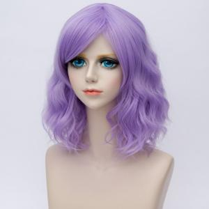 Medium Side Bang Ombre Water Wave Synthetic Party Cosplay Wig -
