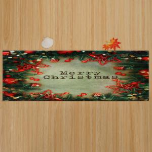Christmas Tree Decorations Pattern Anti-skid Water Absorption Area Rug - COLORMIX W16 INCH * L47 INCH