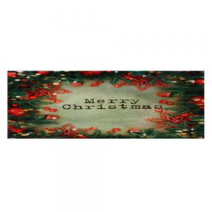 Christmas Tree Decorations Pattern Anti-skid Water Absorption Area Rug -