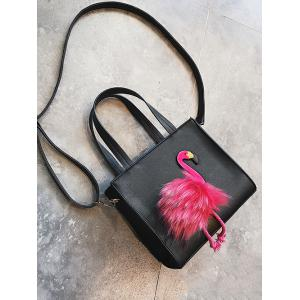 Flamingo Faux Leather Handbag -