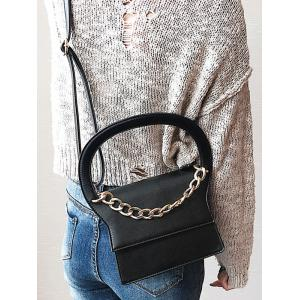 Chain PU Leather Handbag With Strap -