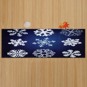 Christmas Snowflake Antiskid Coral Fleece Bath Rug -