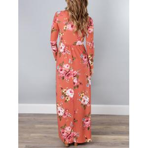 V Neck Floral Long Beach Dress - JACINTH M