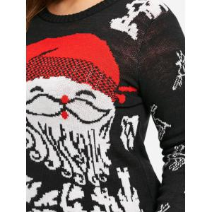 Christmas Santa Claus Plus Size Jumper Sweater - BLACK XL