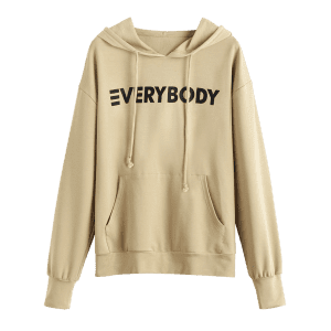 Contrasting Letter Oversized Hoodie -