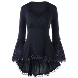 Halloween Lace Up Sweetheart Neck Top -