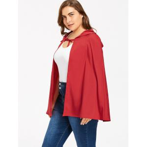 Plus Size Long Hooded Cape -