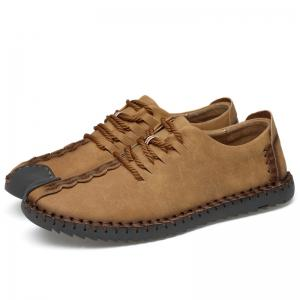 Lace Up Whipstitch Casual Shoes -