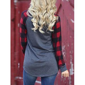 Checked Long Sleeve Tunic Tee -