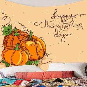 Thanks Giving Day Pumpkin Print Wall Art Tapestry -
