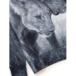 Sweat-shirt imprimé lions 3D -