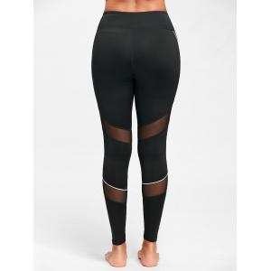 Midi Waist Contrast Tall Leggings for Yoga -