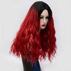 Long Center Parting Water Wave Ombre Synthetic Party Wig -