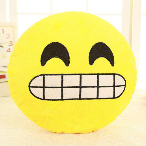 Trendy Cartoon Smile Face Emoticon Pattern Pillow Case YELLOW AND BLACK