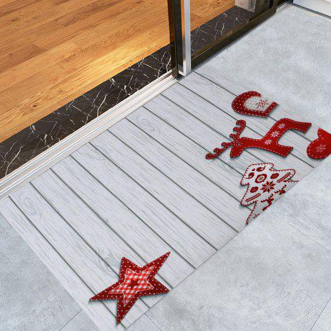 Chic Christmas Star Wood Pattern Anti-skid Water Absorption Area Rug