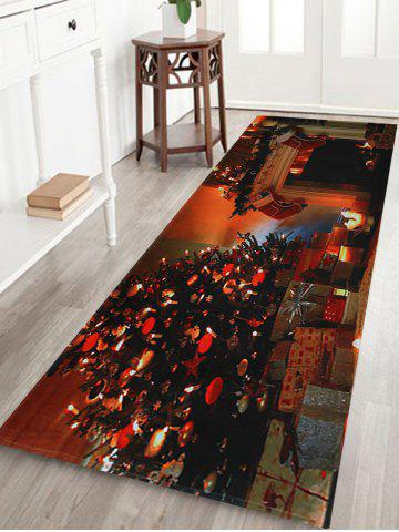 Latest Christmas Tree Fireplace Pattern Anti-skid Water Absorption Area Rug - W16 INCH * L47 INCH COLORMIX Mobile