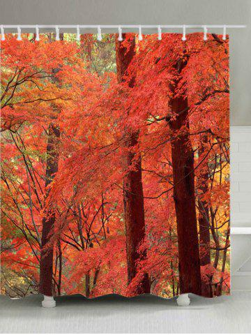 New Maple Forest Print Waterproof Bathroom Shower Curtain