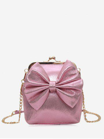 Latest Chain Bowknot Crossbody Bag PINK