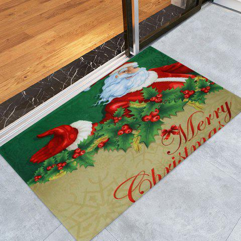 Shops Santa Claus Print Christmas Antislip Bath Rug
