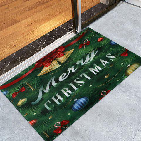 Trendy Christmas Tree Bells Pattern Anti-skid Water Absorption Area Rug