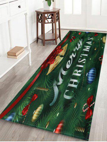 Shops Christmas Tree Bells Pattern Anti-skid Water Absorption Area Rug COLORMIX W16 INCH * L47 INCH
