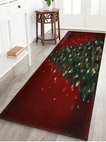Hot Christmas Tree Pattern Anti-skid Water Absorption Area Rug COLORMIX W16 INCH * L47 INCH