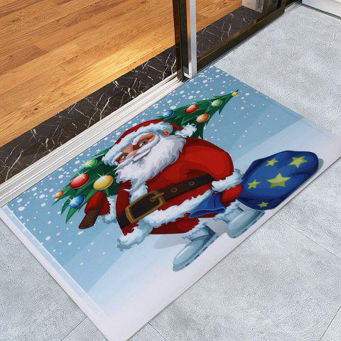 Best Christmas Santa Tree Pattern Anti-skid Water Absorption Area Rug - W24 INCH * L35.5 INCH COLORMIX Mobile