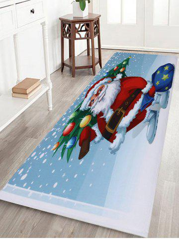 Trendy Christmas Santa Tree Pattern Anti-skid Water Absorption Area Rug - W16 INCH * L47 INCH COLORMIX Mobile