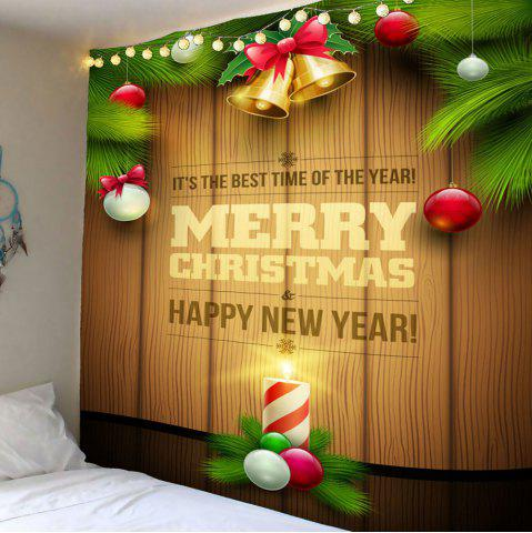 Bougie de Noël colorée Patten Waterproof Wall Art Tapestry Coloré Largeur 59pouces*Longeur 51pouces
