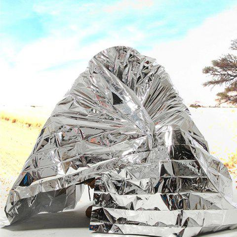 Online Outdoor Emergency Survival Thermal Space Sunscreen Blanket SILVER
