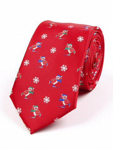 Outfits Christmas Element Pattern 7.5CM Width Tie RED