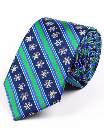 Outfit Christmas Element Pattern 7.5CM Width Tie