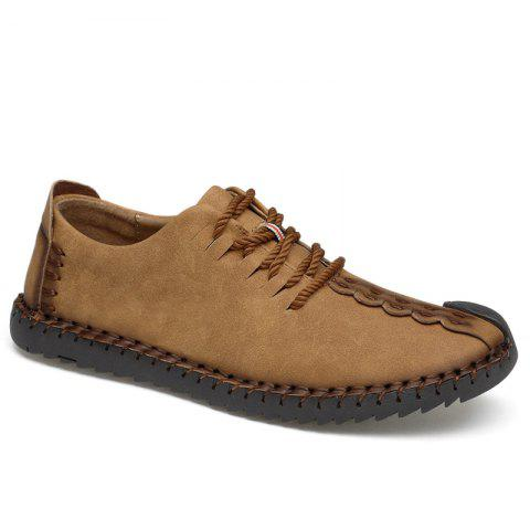Affordable Lace Up Whipstitch Casual Shoes EARTHY 45