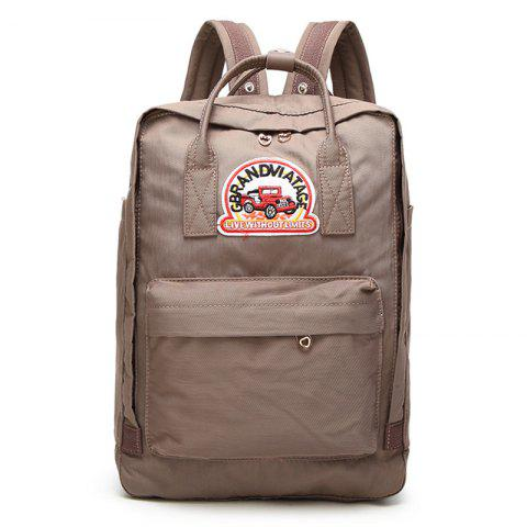 Fancy Car Letter Embroidery School Backpack