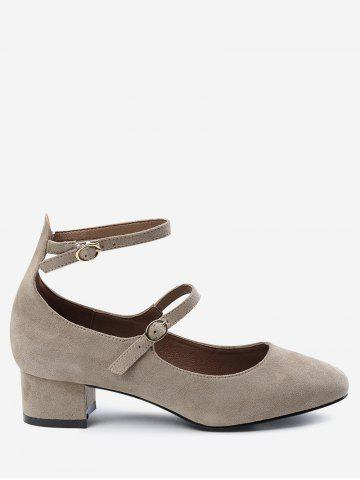 Online Chunky Heel Ankle Strap Pumps APRICOT 34