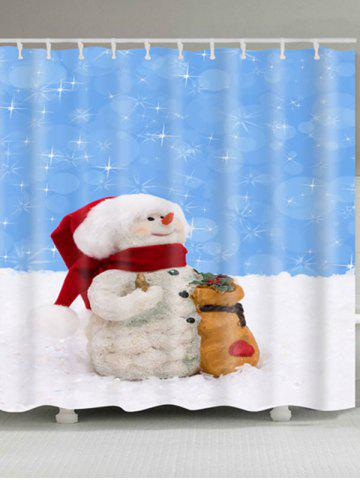 Shops Waterproof Polyester Snowman Christmas Shower Curtain