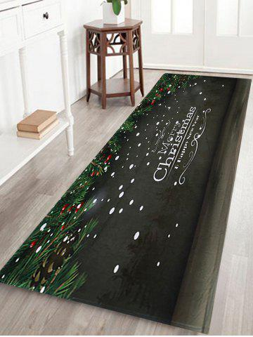 Best Merry Christmas Printed Coral Fleece Nonslip Bath Mat - W24 INCH * L71 INCH DARK GREY Mobile