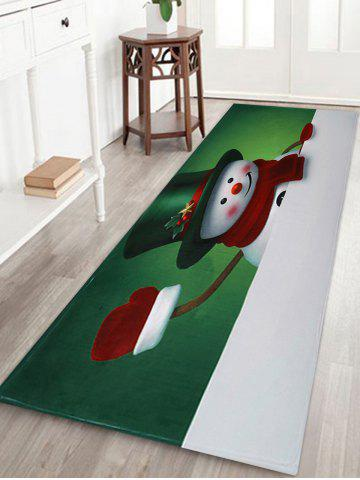Shop Christmas Hatted Snowman Pattern Anti-skid Water Absorption Area Rug