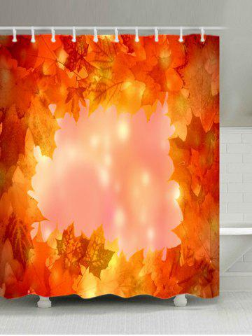 Online Maple Leaves Print Waterproof Bathroom Shower Curtain