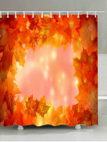 Fancy Maple Leaves Print Waterproof Bathroom Shower Curtain - W71 INCH * L79 INCH ORANGE Mobile