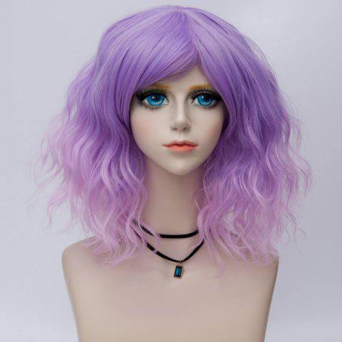 Shop Medium Side Bang Ombre Water Wave Synthetic Party Cosplay Wig