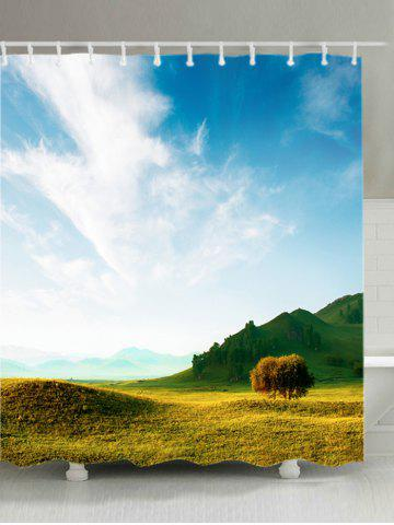 Discount Grasslands Print Waterproof Bathroom Shower Curtain