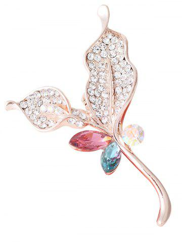 Best Rhinestone Faux Crystal Sparkly Leaf Brooch