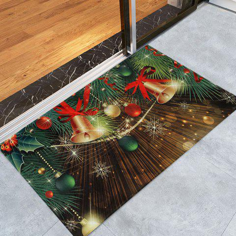 Affordable Christmas Bells Baubles Pattern Anti-skid Water Absorption Area Rug