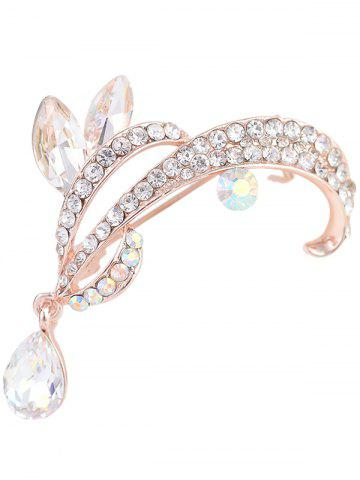 Discount Rhinestone Sparkly Teardrop Brooch - WHITE  Mobile